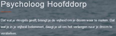 Psycholoog Hoofddorp